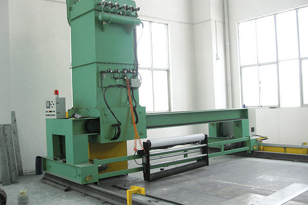 Hot rolled plate polishing machine