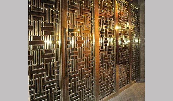 stainless steel wall decoration