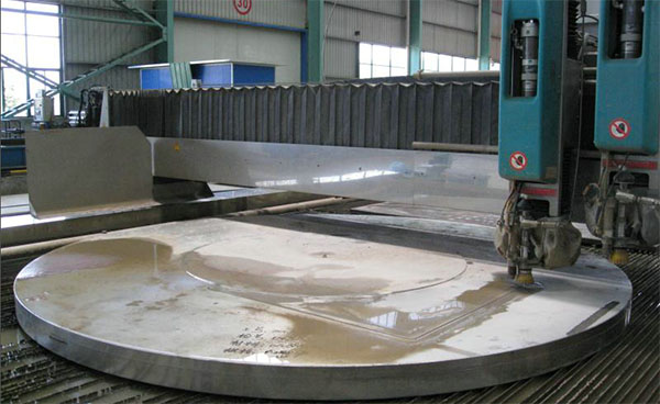 thick stainless plate waterjet cutting - 01